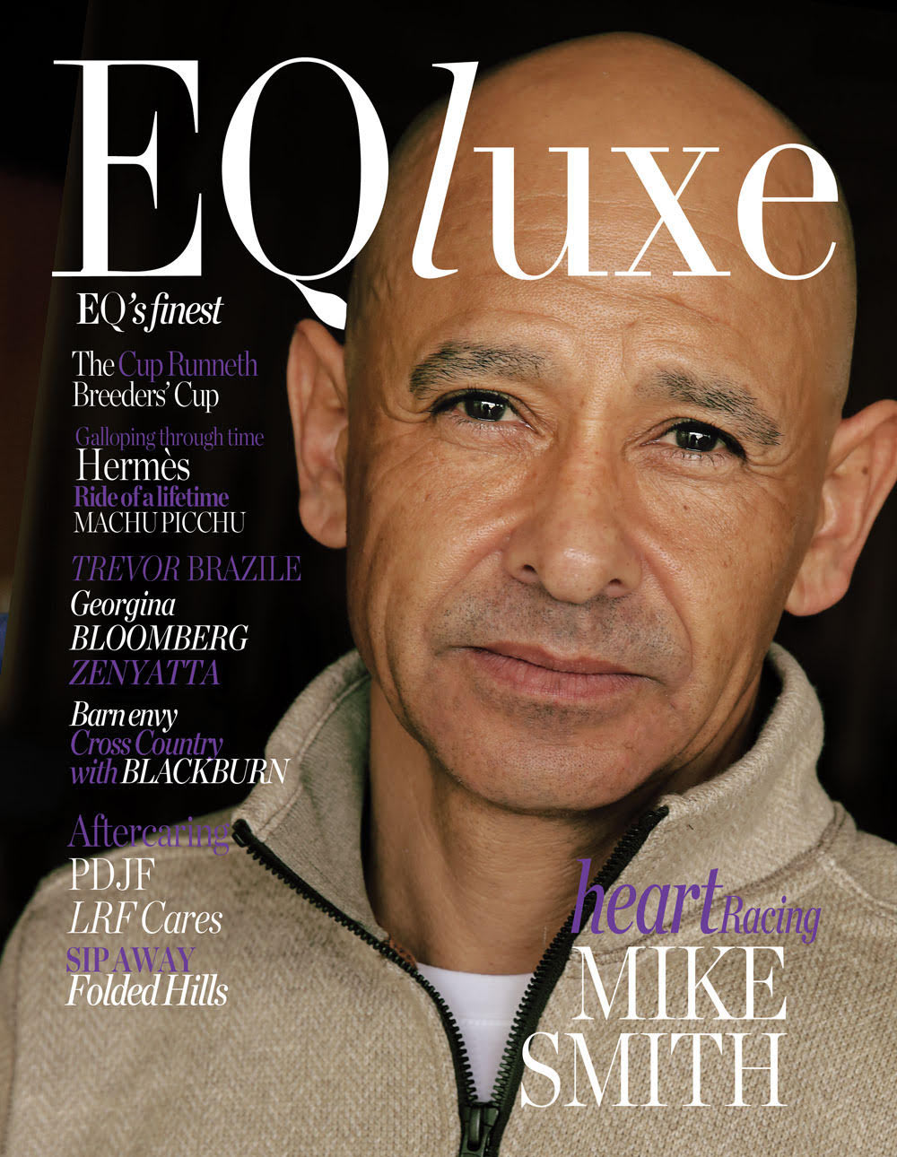 Mike Smith covers EQluxe magazine's iconic issue