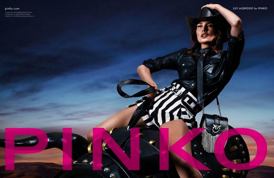 lily Aldridge for PINKO